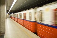 modern station för metro arkivfoton