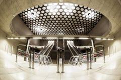 Modern station interior. Modern interior of a subway station, empty Royalty Free Stock Photo