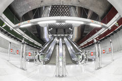 Modern station interior. Modern interior of a subway station, empty Stock Images
