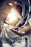 Modern station interior. Modern interior of a subway station, escalator Stock Image