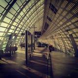 Modern station interior. Interior of a modern TGV train station in avignon, France Royalty Free Stock Image