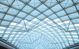 The modern station roof steel construction organiz Royalty Free Stock Photography