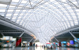 The modern station roof steel construction organiz Royalty Free Stock Images
