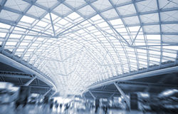 The modern station roof steel construction organiz Stock Photos