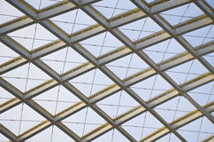 The modern station roof steel construction organization Royalty Free Stock Photos