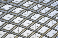 The modern station roof steel construction organization Stock Photography