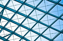 The modern station roof steel construction organization Royalty Free Stock Photography