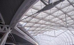 The modern station roof steel construction organiz Stock Photo