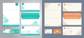 Modern stationery set pattern in vector format Royalty Free Stock Photo
