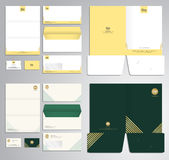 Modern stationery set pattern in vector format Royalty Free Stock Images