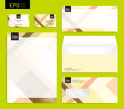 Modern stationery set in vector format, letterhead, business car Royalty Free Stock Photos