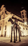 Modern statue in Brno, Czech republic Royalty Free Stock Image