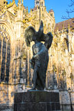 Modern statue of John the Baptist near the Cathedral in Den Bosch Royalty Free Stock Photography