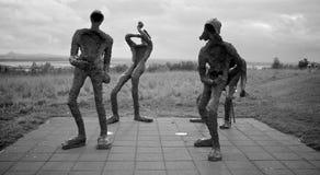 Modern statues in Reykjavik. Piece of modern art in capital city of Iceland - Reykjavik stock photography
