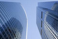 Modern Steel And Glass Office Building Detail Royalty Free Stock Photography