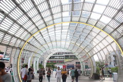 Modern steel arch structure building in SHENZHEN HAIDE Square Royalty Free Stock Photography