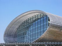Modern steel building Royalty Free Stock Images