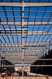 Modern steel building frame Royalty Free Stock Image