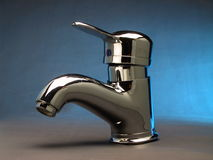 Modern steel chrome faucet India. Designer chrome and steel hygiene faucet in modern washrooms and baths as economy is getting better Royalty Free Stock Photography