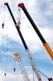 Modern steel cranes Stock Photo