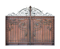 Modern steel decorative  gates. Royalty Free Stock Image