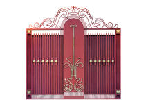 Modern  steel decorative  gates. Stock Photography