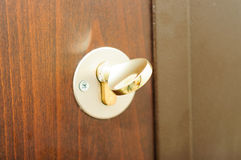Modern Steel Door Lock Royalty Free Stock Image