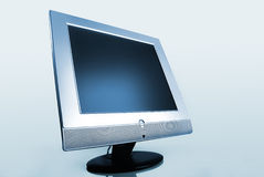 Modern steel flat  computer monitor Stock Images