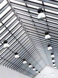 Modern steel frame roof Stock Image