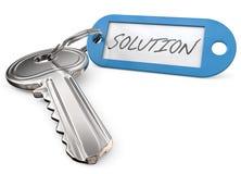 Key to Solution. Royalty Free Stock Photos
