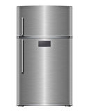 Modern steel refrigerator Stock Photo