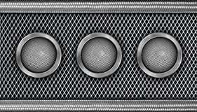Modern Steel Speaker Stock Images