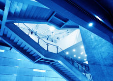 Modern steel staircase Royalty Free Stock Photography