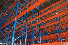 Modern steel structure racks Royalty Free Stock Photography