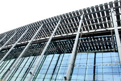 Modern steel structures building Royalty Free Stock Image