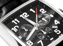 Modern steel wristwatch time concept Royalty Free Stock Image