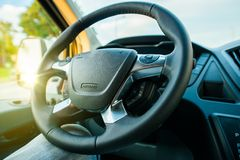 Modern Steering Wheel Stock Images