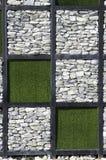 modern stenvägg för olikt format Arkivbild