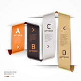 Modern step up options ribbon style. Royalty Free Stock Images