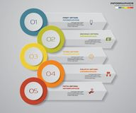 Modern 5 steps arrow infographics for your idea and presentation. EPS 10 vector illustration