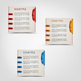 Modern steps colored labels progress background Stock Image