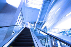 Modern steps of moving business escalator Stock Images