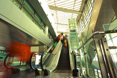 Modern steps of moving business escalator Royalty Free Stock Images