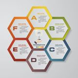 Modern 6 steps process. Simple&Editable abstract design element. EPS10 vector illustration