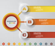 Modern 3 steps process. Simple&Editable abstract design element. Royalty Free Stock Photo