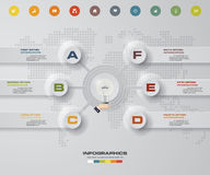 Modern 6 steps process. Simple&Editable abstract design element. Stock Images
