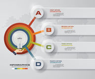 Modern 4 steps process. Simple&Editable abstract design element. Royalty Free Stock Photography