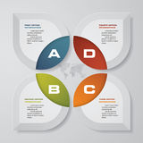 Modern 4 steps process. Simple&Editable abstract design element. EPS10 Royalty Free Stock Photography