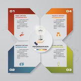 Modern 4 steps process. Simple&Editable abstract design element. EPS10 vector illustration
