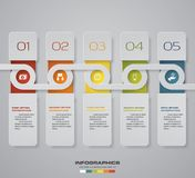 Modern 5 steps process. Simple&Editable abstract design element. EPS10. Modern 5 steps process. Simple&Editable abstract design element. EPS10. for your Royalty Free Stock Photos